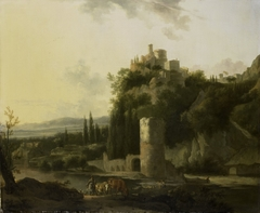 Italina landscape with round tower