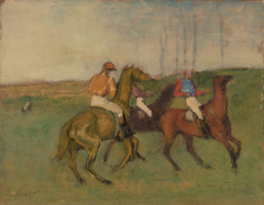 Jockeys and Race Horses