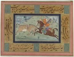 Krijger te paard doorklieft een ezel
