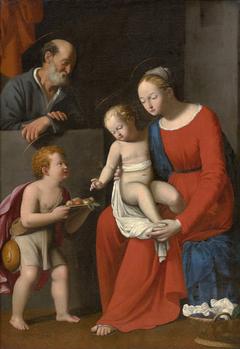 La Vierge à l'Enfant avec St Jean et St Joseph