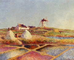 Landscape with Mill near the Salt Ponds