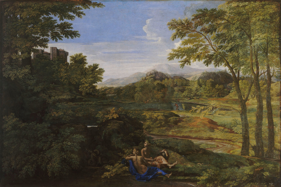 Landscape with two nymphs