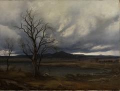 Landschaft mit aufziehendem Gewitter