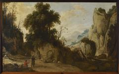 Landschap met rotspartijen