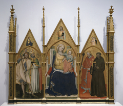 Madonna and Child Enthroned with Sts. Christopher, Blaise,...