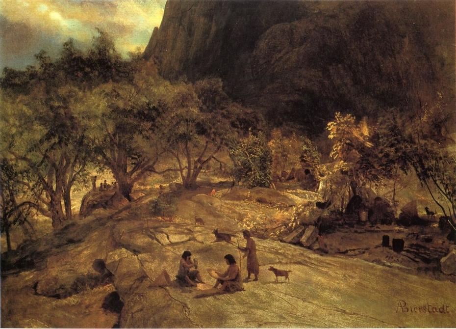 Mariposa Indian Encampment, Yosemite Valley, California