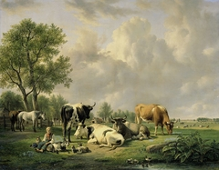 Meadow with Animals