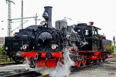 Old Steam Locomotive At A Junction Near Bricknellhurst