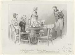 Ontwerp voor illustratie voor De Kolossus der Negentiende Eeuw door P.J. Andriessen (Textill., blz. 68); scène uit het leven van Napoleon