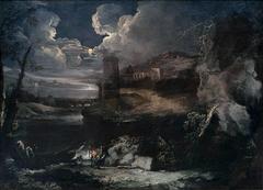 Paysage nocturne fantastique