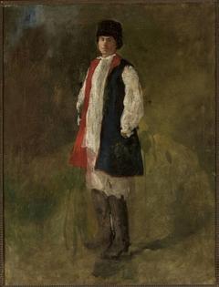 "Peasant in the ""sukmana"" overcoat"