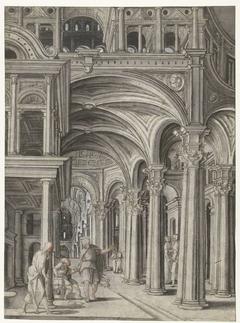 Petrus geneest de kreupele in de tempel