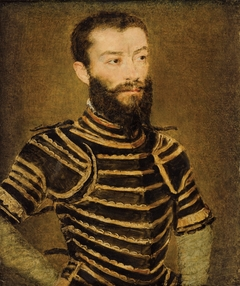 Portrait d'un homme en armure