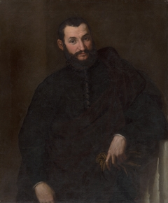 Portrait of a Man (With a Fragment of Antique Column)