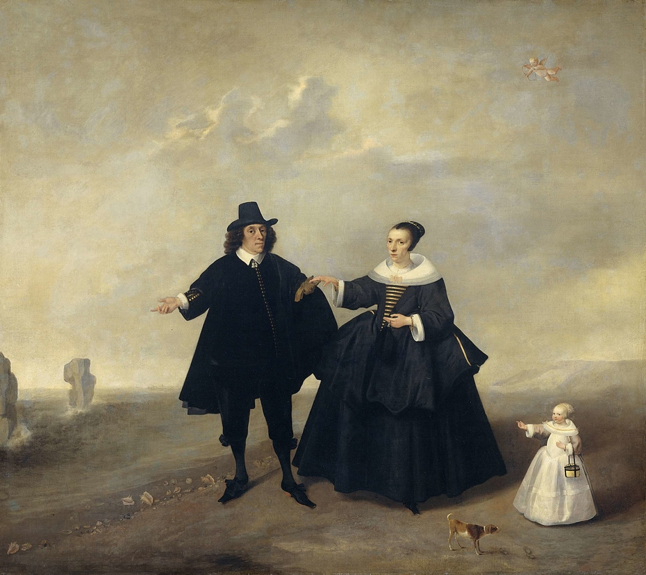 Portrait of a Married Couple with Child, Members of the Beresteyn Family