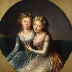 Portrait of Emperor Pavel I's Daughters