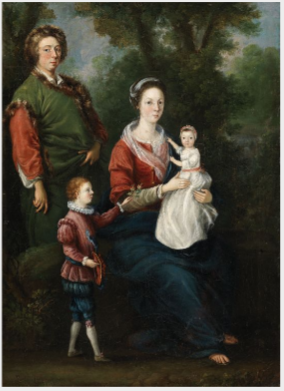 Portrait of Joseph Leeson, 1st Earl of Milltown with his Third Wife Elizabeth, their Daughter Cecilia and his Grandson Joseph, later 3rd Earl of Milltown