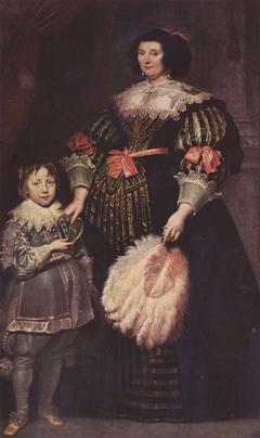 Portrait of Madame Charlotte Butkens-Smit van Cruyninghen and her son Johannes-Amatus