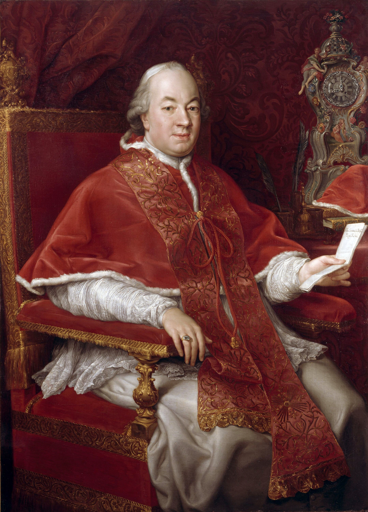 Portrait of Pope Pius VI, Giovanni Angelo Braschi (1717-1799)