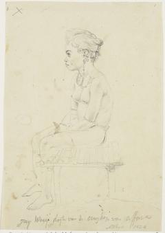 Portretstudie van de dochter van het hoofd van Afara, op het eiland Workai, Aru eilanden, Zuidoost-Molukken