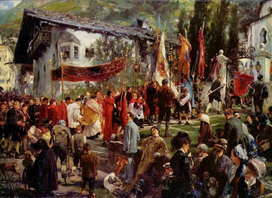 Prozession in Hofgastein