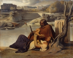 Resting on the Banks of the Tiber