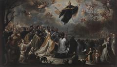 Saint Augustine vanquishing the Plague of Locusts