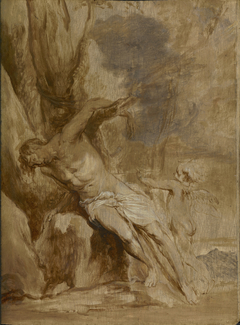 Saint Sebastian Tended by an Angel