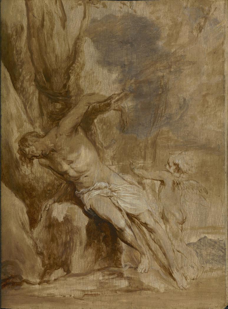 Saint Sebastian Tended by an Angel