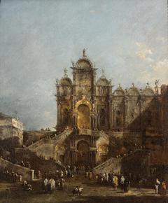 Scuola di San Marco with Loggia Erected for Benediction of Pope Pius VI May 19, 1782, Campo San Zanipolo