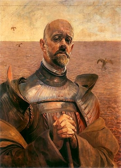 Self-portrait in an armour