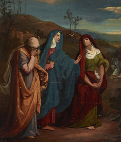 """Sketch to the Painting """"Three Marys Walking to Christ's Tomb """""""