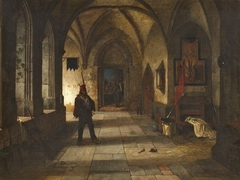 Soldier in an Abbey Cloister