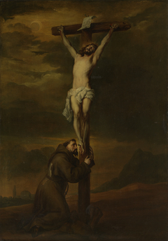 St Francis at the foot of the cross