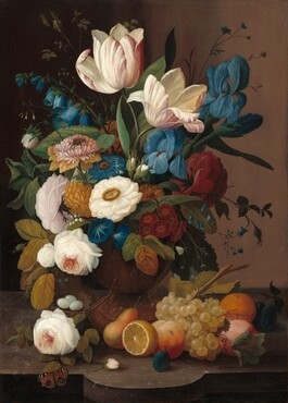 Still Life, Flowers, and Fruit