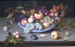 Still Life of Fruit on a Kraak Porcelain Dish