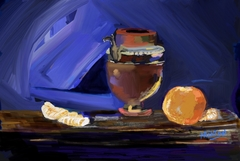 Still Life with Copper and Orange