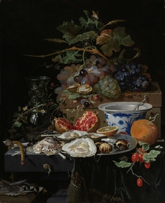Still Life with Fruit, Oysters and a Porcelain Bowl
