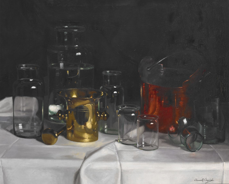 Still Life with Glass Jars