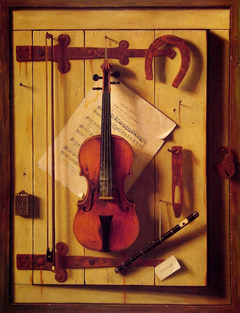 Still Life with Violin and Music