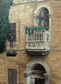 Stone Balcony at Mdina