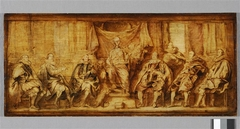 Study for the group portrait 'The Magistrates of Brussels', painted in 1634 for the Brussels townhall