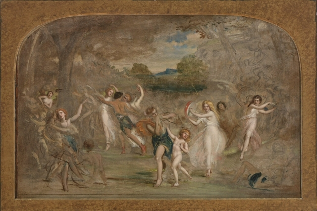 """Study for """"Una and the Wood Nymphs"""""""