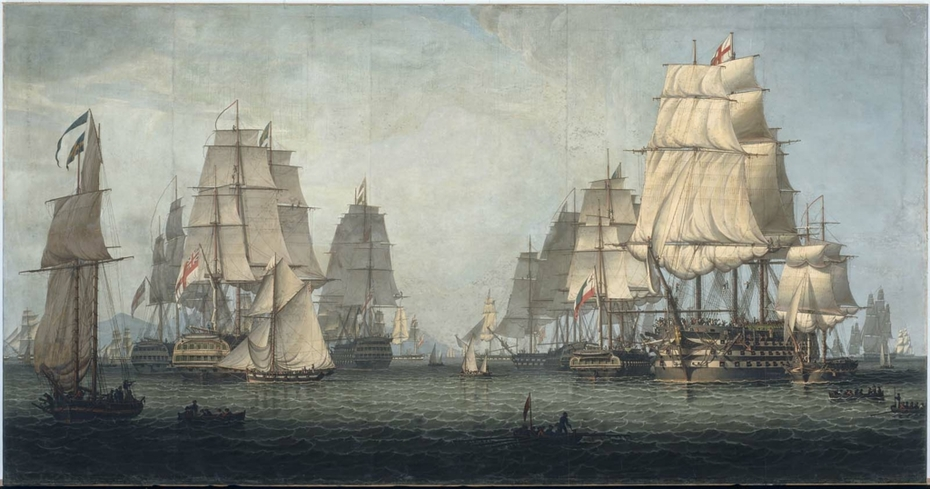 The British Fleet Forming a Line off Algiers