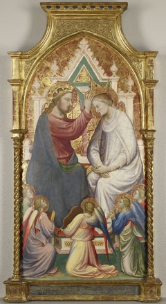 The Coronation of the Virgin with Five Music-Making Angels
