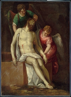 The Dead Christ Supported by Angels