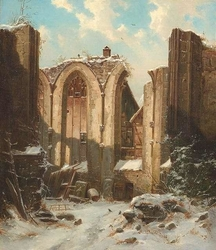 The Remains of a Monastery in Winter