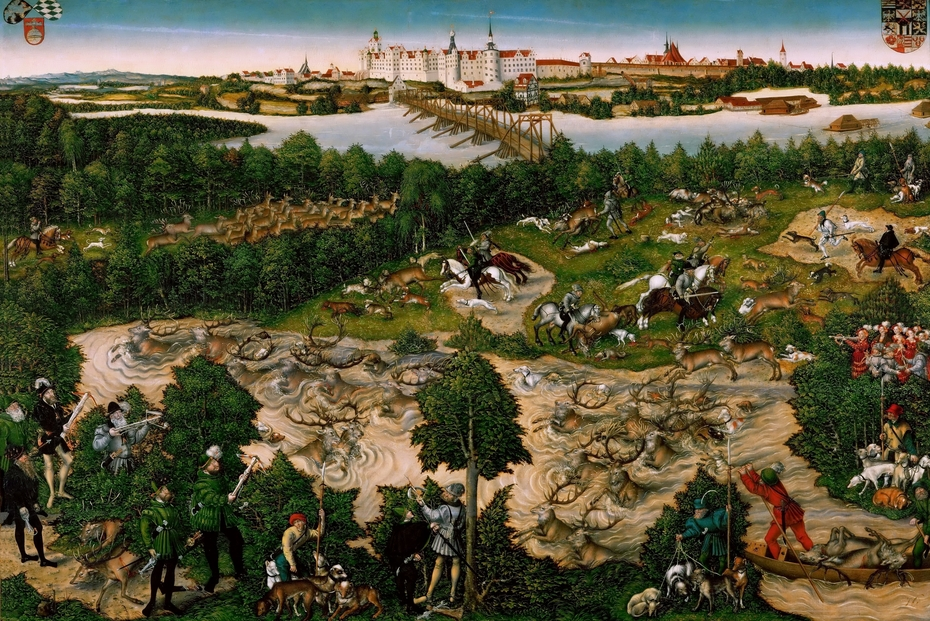 The Stag Hunt of the Elector Johann Friedrich of Saxony, or Frederic the Wise