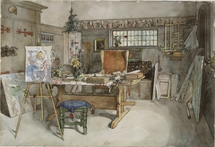 The Studio (From a Home watercolor series)