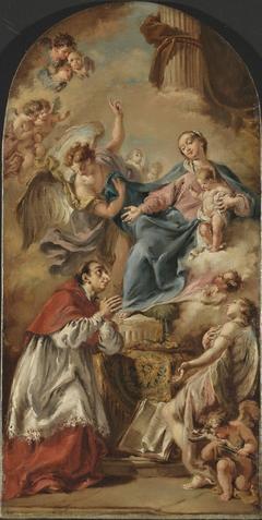 The Virgin and Child adored by Saint Carlo Borromeo